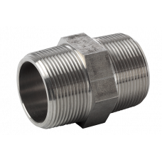 316L hexagon nipple ASTM A 182, NPT 3000 Lbs 1/8""