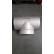 RVS T-stukken, V-gelast, gelijkbenig BF 304L  254.00 x 2.00