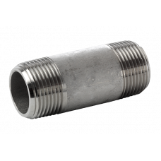 "316L  pipe nipple t.b.e. NPT 3000LBS  1/8""   x  101.6 mm"