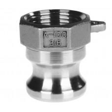 """Bsp Snelkoppelingen 316 Adaptor type A bi-draad  1/2"""""""