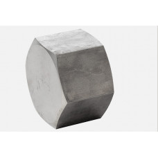 "316L Hexagon Cap ASTM A 182, NPT 3000 Lbs 1/2"""