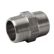 "316L hexagon nipple ASTM A 182, NPT 3000 Lbs 3/8"""