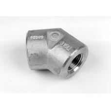 "316L Elbow f/f 45 degr ASTM A 182, NPT 3000 Lbs 1/8"""