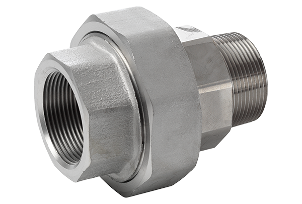316L Union Conical m/f/ ASTM A 182, NPT 3000 Lbs