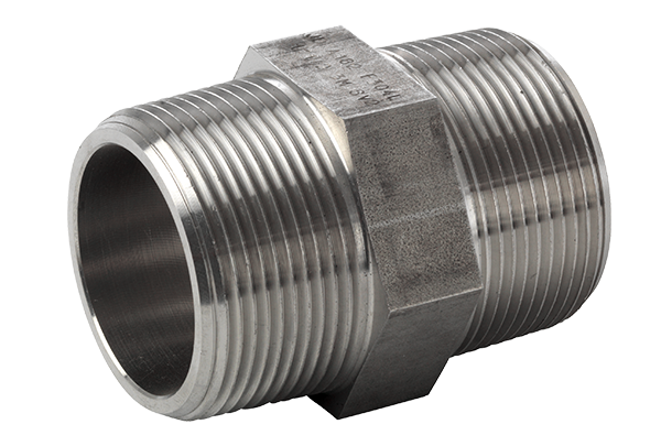 316L  hexagon nipple  ASTM A 182, NPT 3000 Lbs